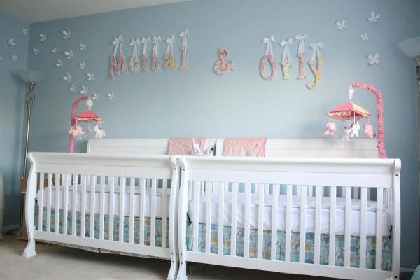 Twin Baby Girl Nursery Room Ideas