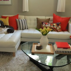 Accent Sofa Pillows Two Sofas Into Sectional 21 Cool For Inspirationseek
