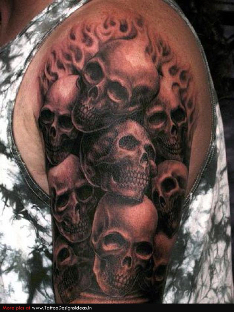 Skull Smoke Tattoo Filler Patterns
