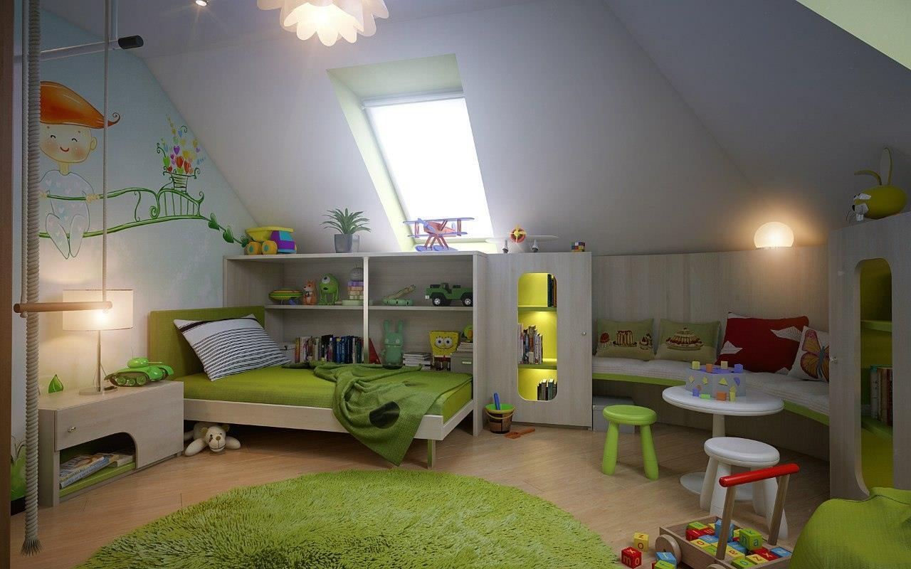 21 Attic Bedroom For Kids
