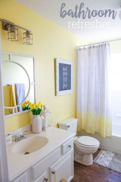 soft yellow bathroom ideas 24 Yellow Bathroom Ideas - InspirationSeek.com