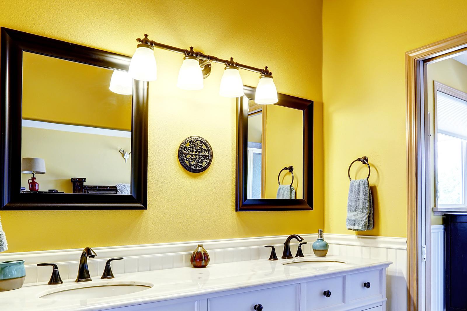 24 Yellow Bathroom Ideas  InspirationSeekcom