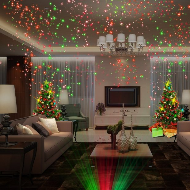 christmas lights in room home design ideas