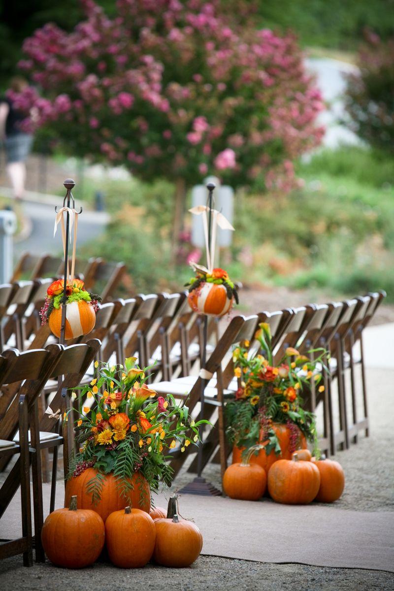Pumpkin Inspired Fall Wedding Inspiration  Inspirations