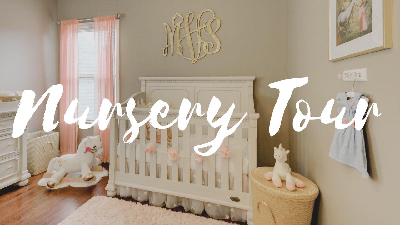 Baby Girl Nursery Tour – Glam Unicorn Theme