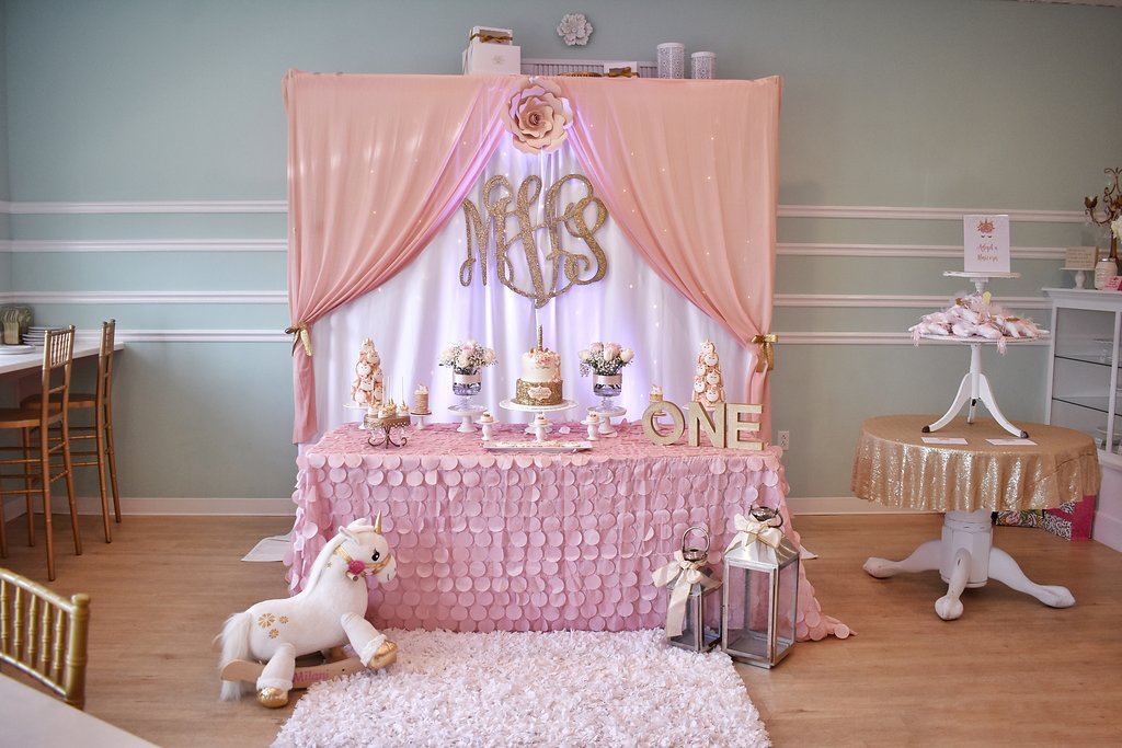 Unicorn Birthday Dessert Table