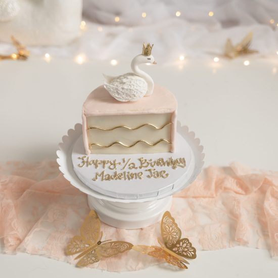 1/2 birthday swan cake, half birthday swan cake, half birthday swan photoshoot, swan themed cake smash, smash cake swan themed photoshoot, swan theme smash cake shoot, swan theme smash cake photoshoot, 1st swan themed birthday, swan theme birthday ideas, swan themed birthday photoshoot,
