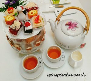 tea time package one pose cafe surabaya