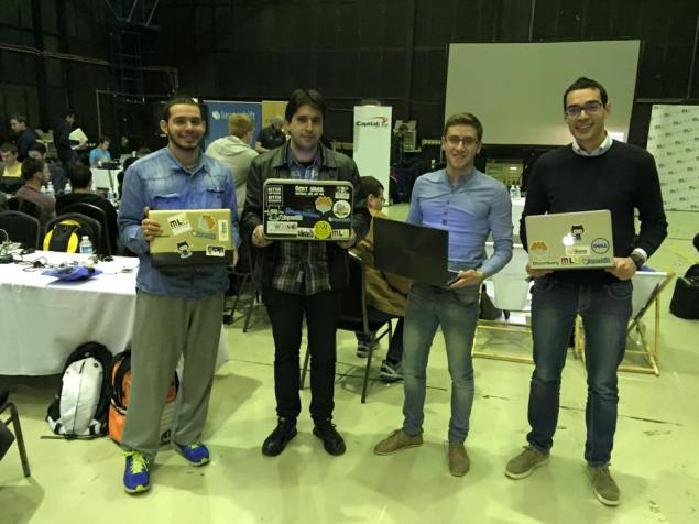 Team with sticker enriched laptops