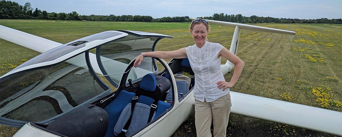 Christina Larson – Commercial Glider Milestone