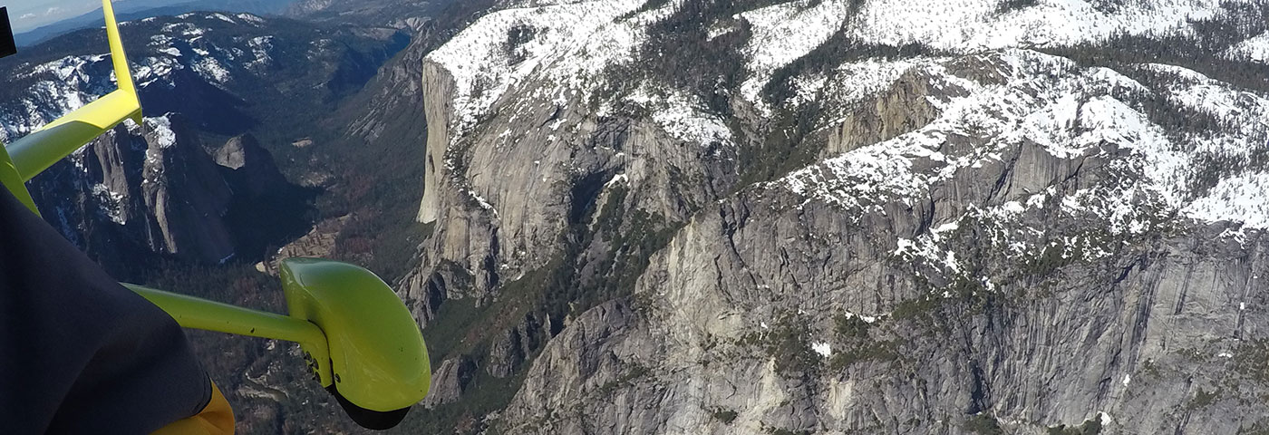 Flying the Yosemite Valley in an Open-Cockpit Gyroplane