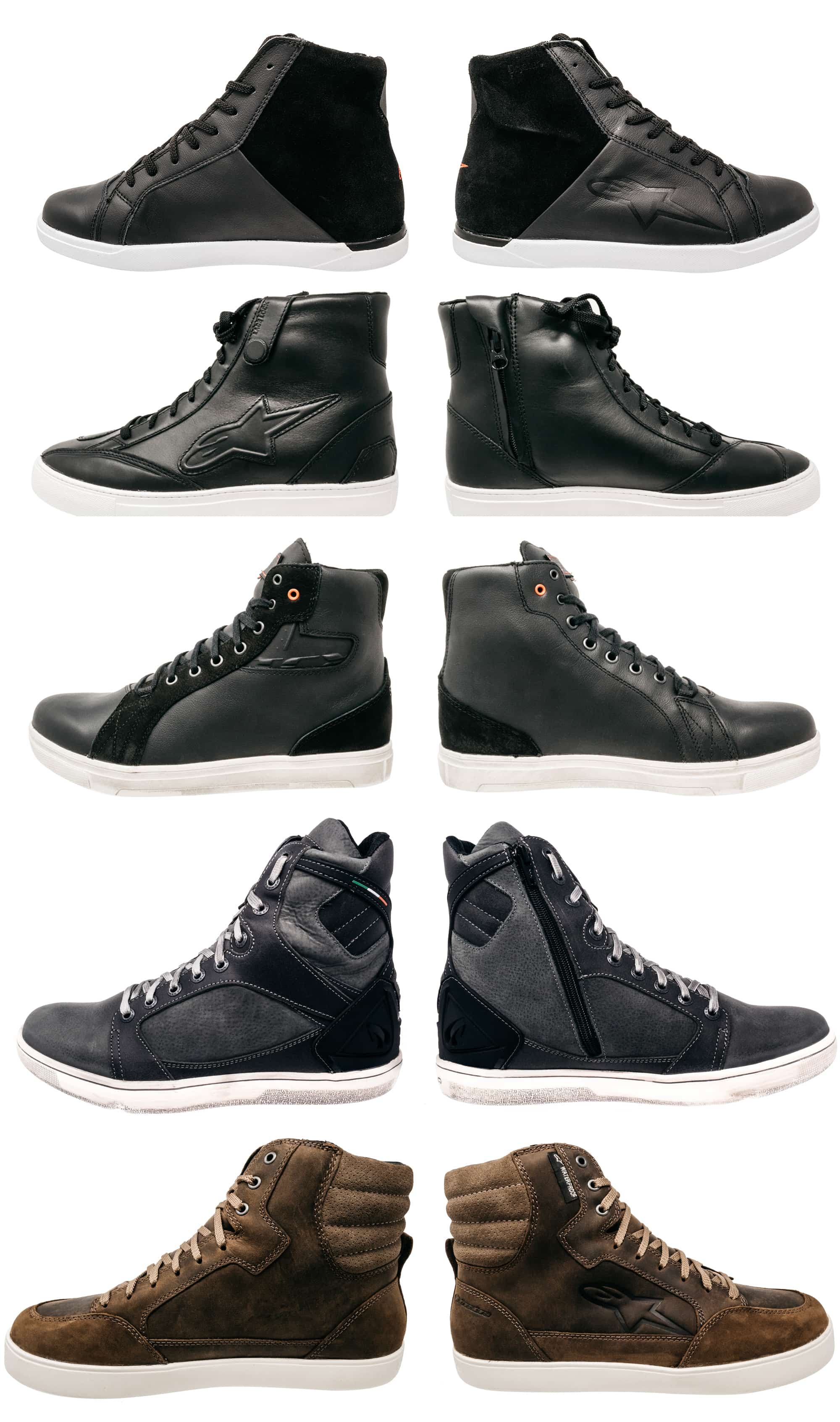 Converse type casual motorcycle boots