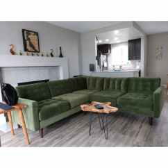 Elliot Fabric Sectional Living Room Furniture Collection Cheapest Set Eliot Apartment Corner Joybird Shop The Look Photo By Paul Gaetani