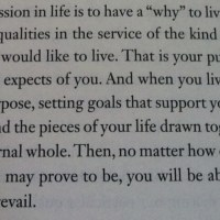 Live according to your purpose..