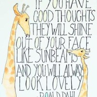 Good Thoughts = Sunbeams