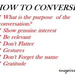 how to converse?