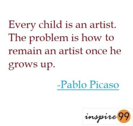 are you in touch with your inner child, embracing innocence in life, what do we miss out on as we grow up, pablo picaso quotes on innocence, quote analysis inncoence
