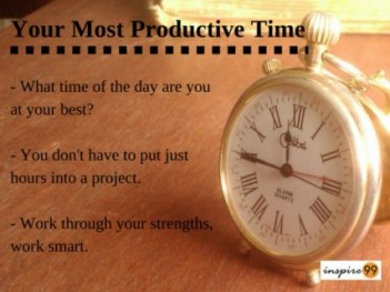 most productive time, efficient time management