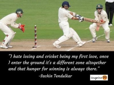 Sachin on losing, sachin quote on losing and winning, sachin thoughts and quotes