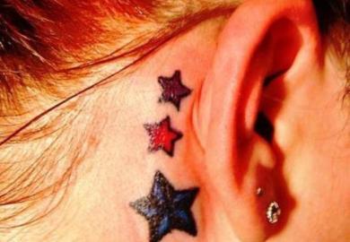 Sun And Stars Tattoo Designs