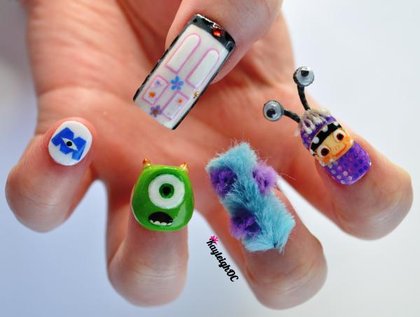 Monsters Inc 3d Nail Art
