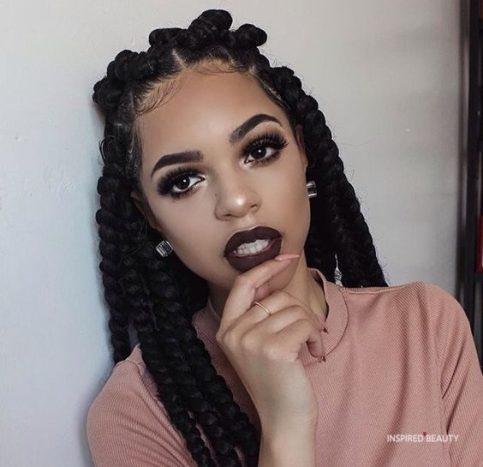 jumbo box braids hairstyles for black woman