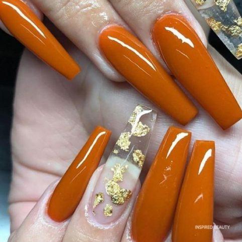 orange nail for spring