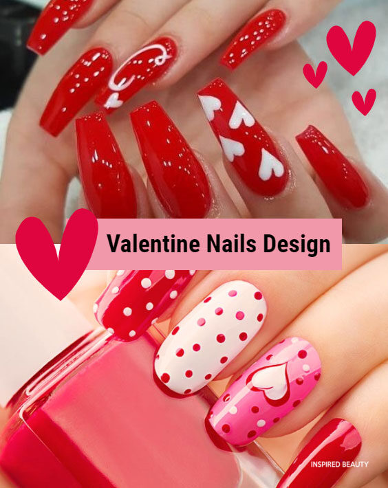 Cute Red And White Nail Art That Are Perfect For Valentine Inspired Beauty