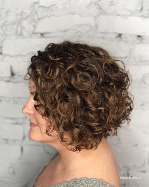 Inverted Curly bob
