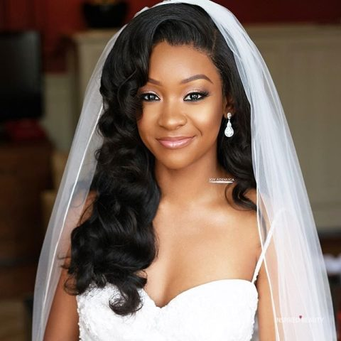 Wavy Wedding Hairstyles for Black Women