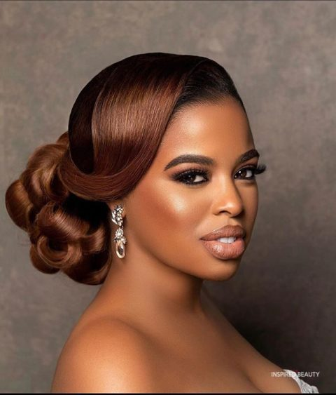 wedding updo hairstyles for black women