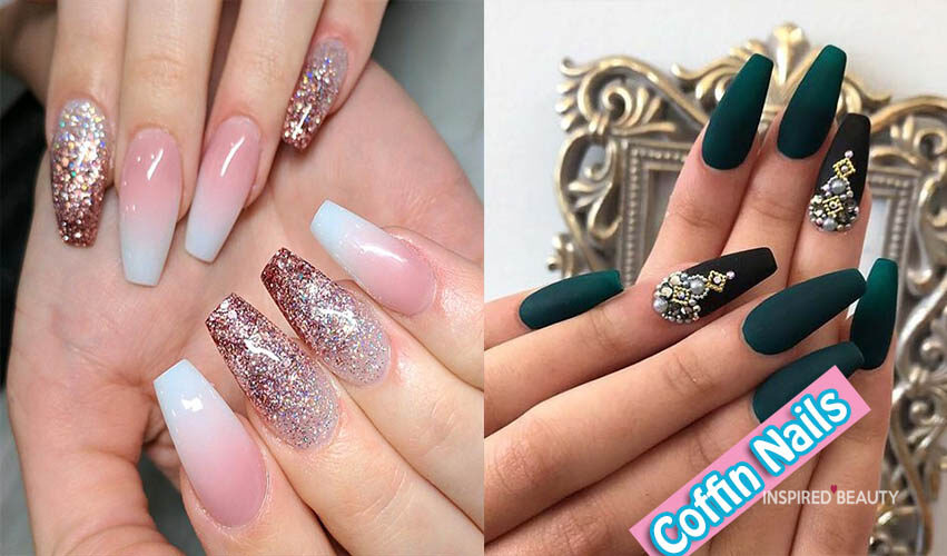 38 Coffin Nails to Inspire you , Inspired Beauty