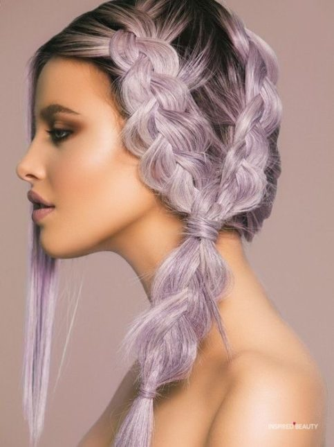 lilac frost hair