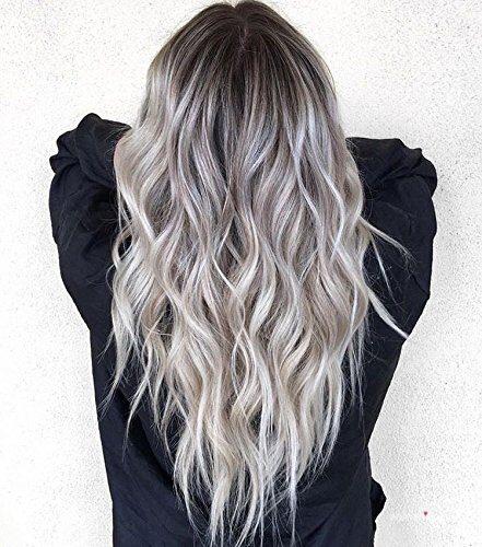 Wavy Balayage Hair Blonde