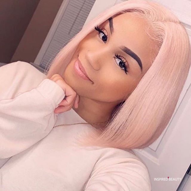 strawberry pink hair
