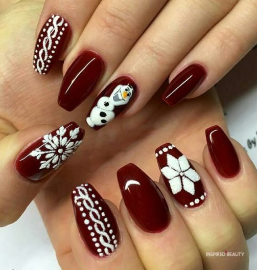 Red nails gel