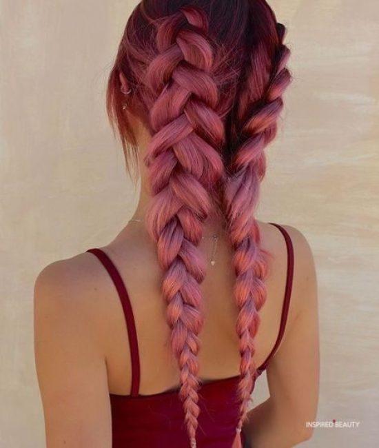 cute burgundy hair