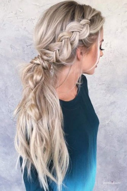 Braided Ponytail Ideas for This Winter