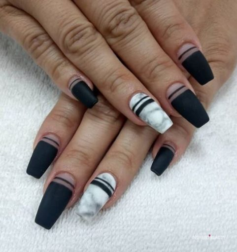acrylic nails coffin