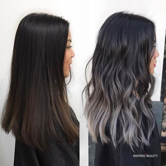 black ombre hair