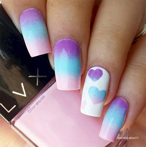 cotton candy acrylic nails