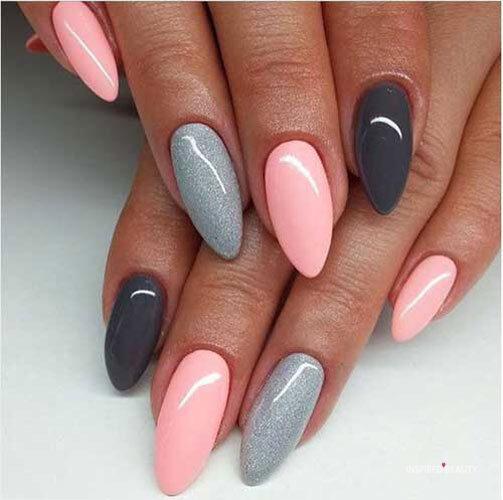 multi color nail trend