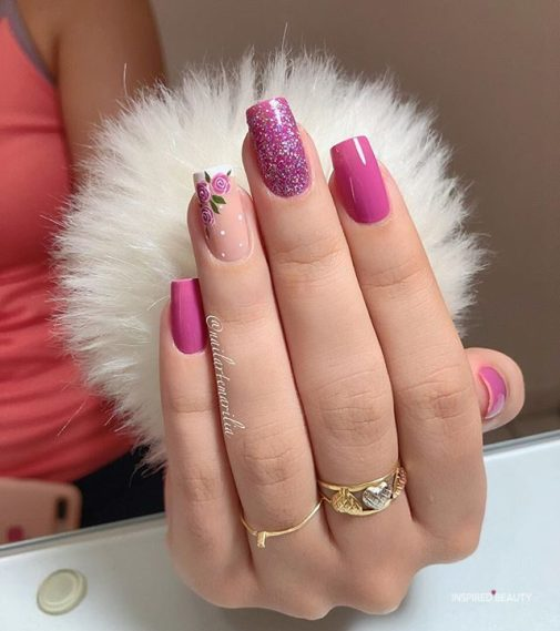 Acrylic nails for spring