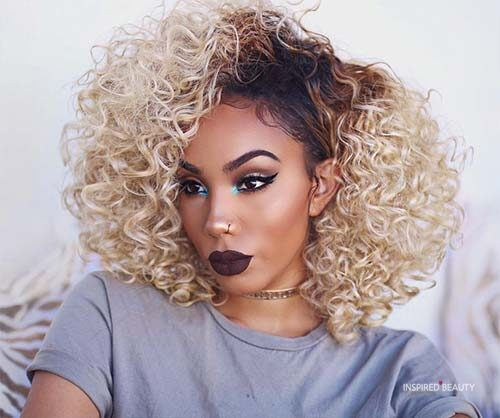 bold hair colors for dark skin