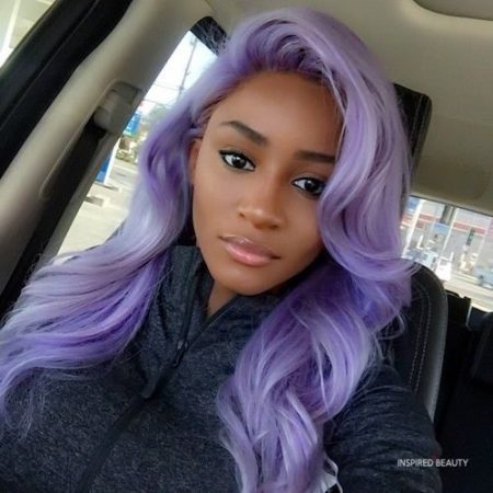 Lilac Hair Color for Dark Skin
