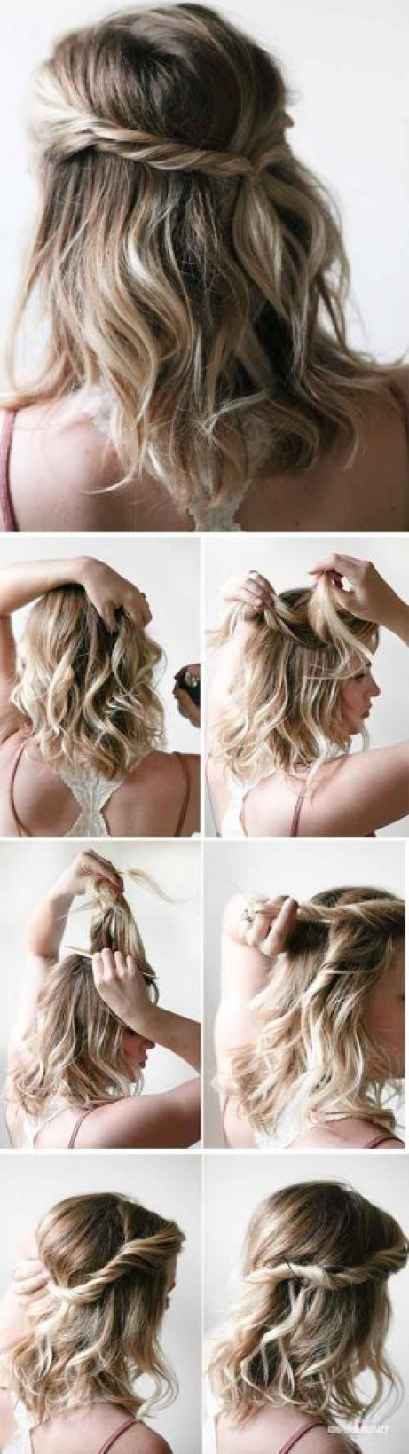 Easy hairstyles for school for short hair