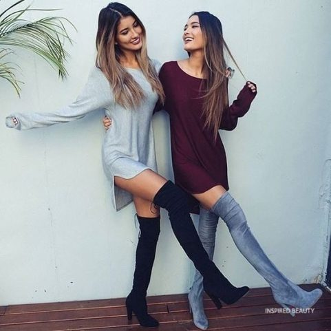College Party Outfits + boots