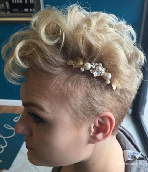 short hair style for wedding
