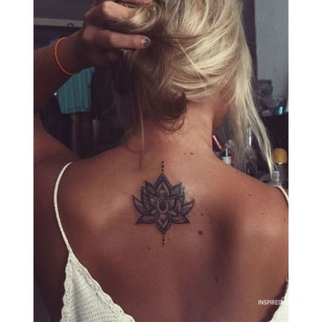 feminine back tattoos for girls