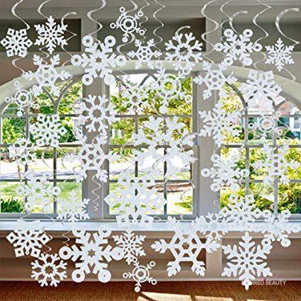 Snowflake Hanging Swirls